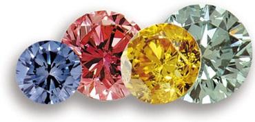colored diamonds man made